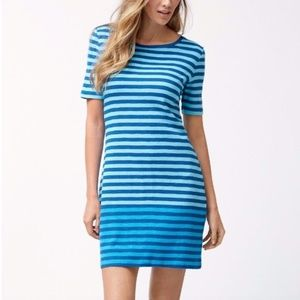 TOMMY BAHAMA Juan Line T-Shirt Dress Blue Striped